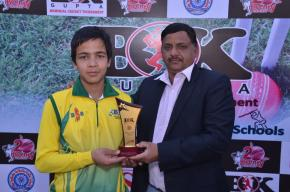 Vidya Jain School wins the inaugural match of B.K Gupta Memorial T-20 Tournament; Rishi Rawat shines with theball