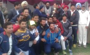 Kunj Sharma's century powers Air India to the title of Sahibzada Ajit Singh Tournament; beats LB Shastri Club in last ball thriller final