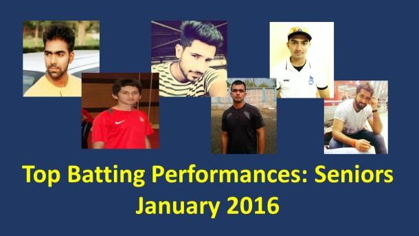 top 5 batsmen - senior- january
