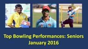 Specials: Top 5 bowling performances of the month- Senior Category