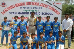 Sachdeva Public School thrashes GD Goenka School by 161 runs to lift the title of KG Khosla Memorial Cricket Tournament