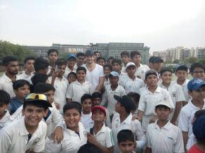 Shane Watson pays a surprise visit at Venkateswara SchoolAcademy